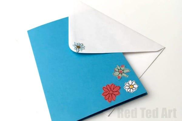 3D Flower Card DIY - Pop Up Cards for Kids - Red Ted Art\'s Blog