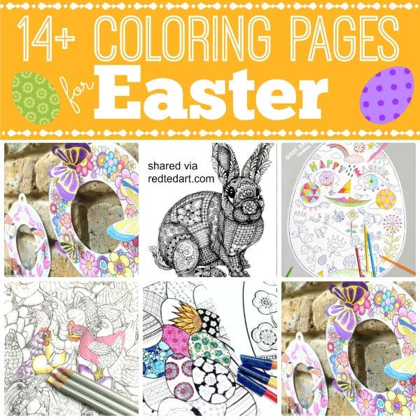 Free Printable Coloring Pages For Easter - Red Ted Art - Make Crafting With  Kids Easy & Fun