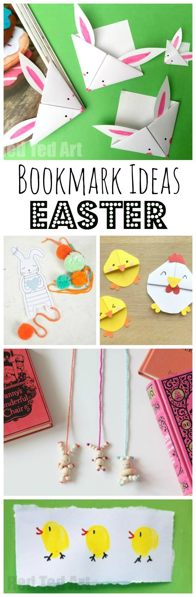 Easter Bookmark Crafts - if you love making your own DIY Bookmarks - whether it is Easter Corner Bookmarks or Fingerprint Bookmarks or getting a little help from Printables, you simply HAVE TO SEE these super duper cute Easter Bookmark Designs. They are so very lovely and so very cute and above all Easy Easter Bookmarks to make with the kids or for yourself. The question is - which will you make first!! Happy Crafting!