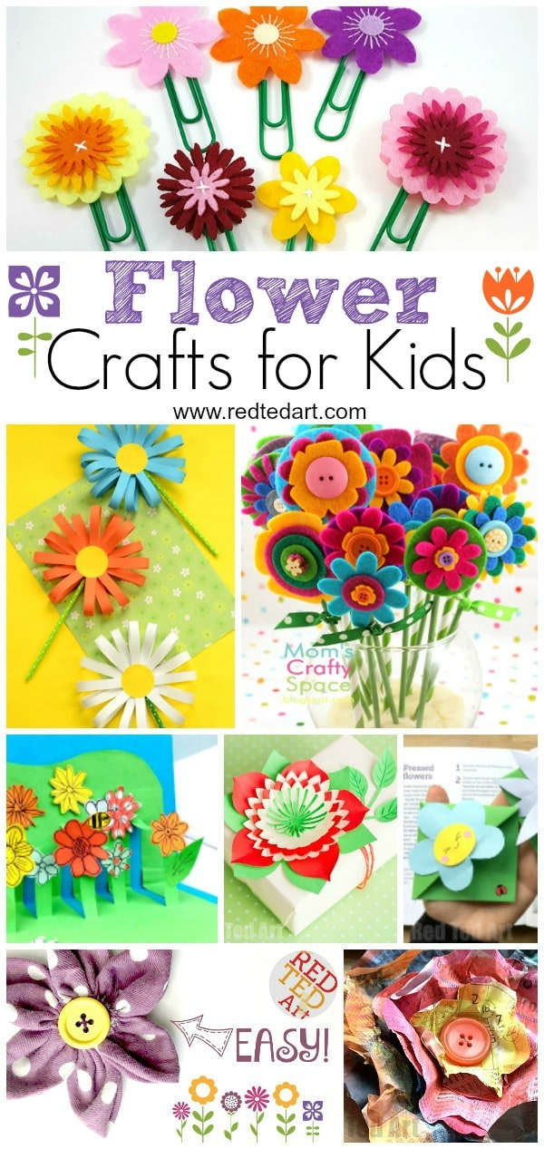Craft Flowers For Kids Part - 45: Flower Craft Ideas- Wonderful Spring, Summer U0026 Motheru0027s Day Ideas. My Kids  LOVE