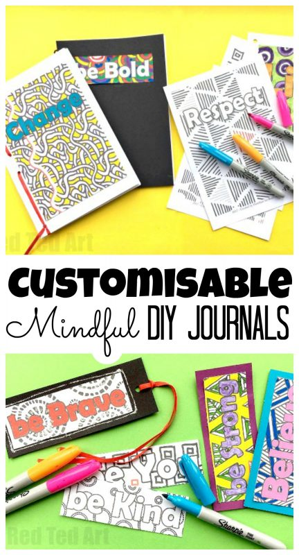 How to Make a Journal - Mindful Journals for Kids . This is a super easy and great looking DIY Journal for kids. Fully customisable and a great way to empower kids or use as part of an anti bullying campaign. Empower kids to be mindful. #journals #backtoschool #schoolsupplies #mindfulness #middleschool #forteens