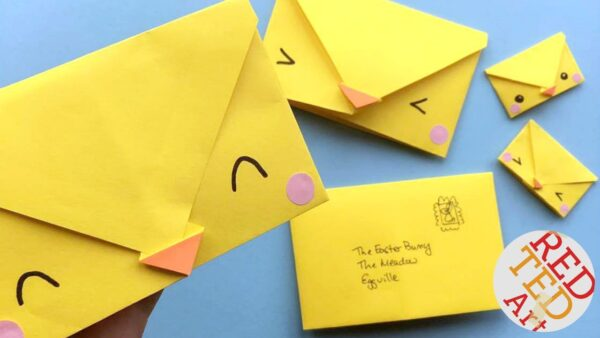 Easy origami chick envelope