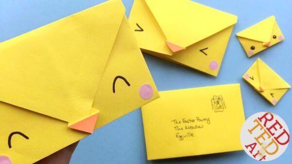 Easy origami chick envelope