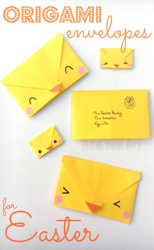 Origami Envelope Chick - Paper Crafts for Kids - Red Ted ... - photo#29