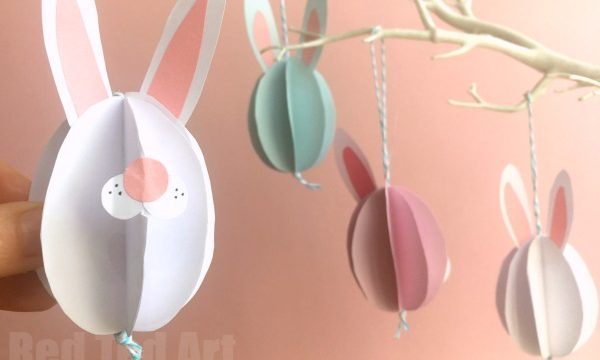 Easy Paper Bunny Craft – Bunny Easter Decorations