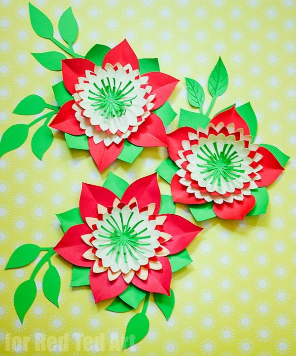 Pretty paper flowers diy including template red ted arts blog pretty paper flowers diy including template these paper flowers look stunning as paper decorations at mightylinksfo