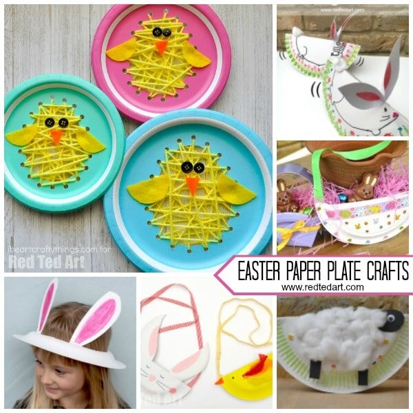 Paper Plate Easter Crafts For Preschool Red Ted Art