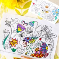 Spring Bunny Coloring Pages