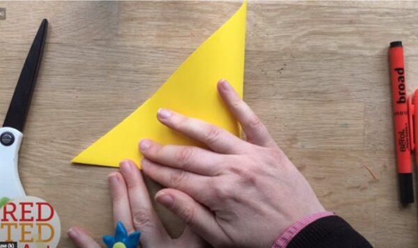 fold the triangle