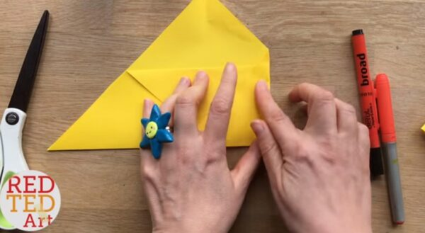 fold the side of your envelope