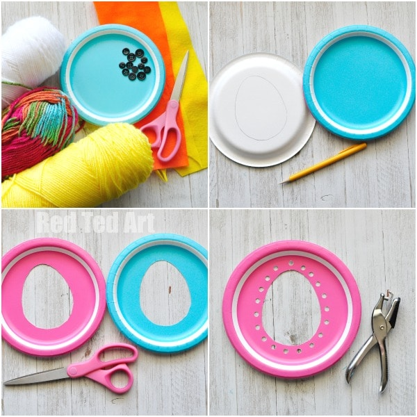Paper Plate Chicks - this paper plate sewing craft is SO CUTE for Easter. Perfect fine motor skill activity for kids and simply the most adorable Paper Plate Chick Craft for Toddlers!