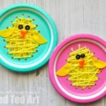 Paper Plate Easter Sewing Craft