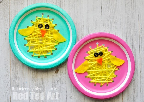 Paper Plate Chicks - this paper plate sewing craft is SO CUTE for Easter. Perfect  sc 1 st  Red Ted Art & Paper Plate Easter Sewing Craft - Red Ted Artu0027s Blog