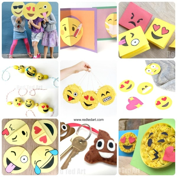 Diy emoji crafts for kids red ted arts blog oh man these emoji diy ideas are just fantastic so fun and something solutioingenieria