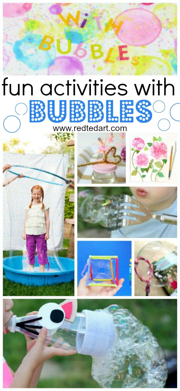 19 Bubble Activities For Kids Fun With Bubbles Red Ted Art