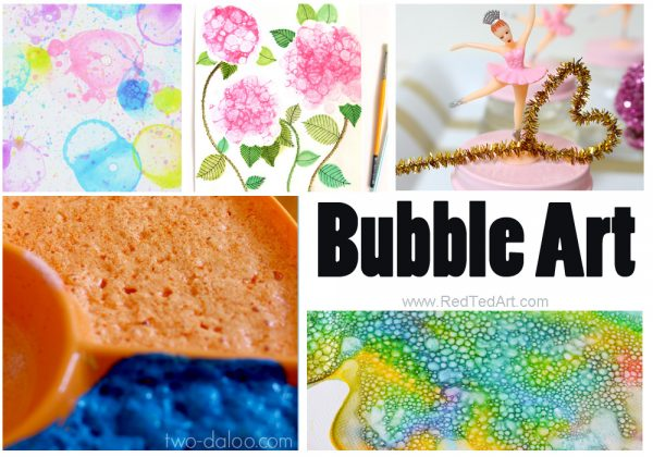 Bubble Art Activities - if you LOVE bubbles and your kids do to.. here are some great Bubble Activities to make with DIY Bubble recipe