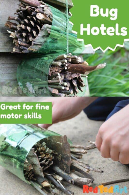Easy insect hotels for kids