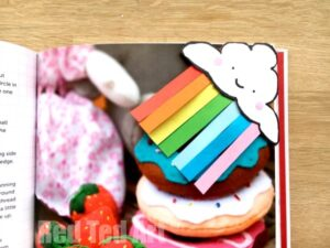 Happy Rainbow Corner Bookmark design for Spring