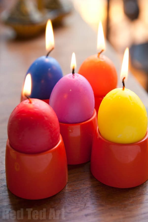 Crayon Egg Candles. Fun Easter Egg Candle DIY. Great Easter Gift For Grown  Ups
