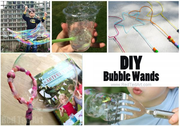 DIY Bubble Wands - oh yes, there are MORE THAN ONE way to make bubble wands. Check out these easy and ingenius bubble wand ideas. Begin with making your own DIY Bubble Recipe, then have fun!