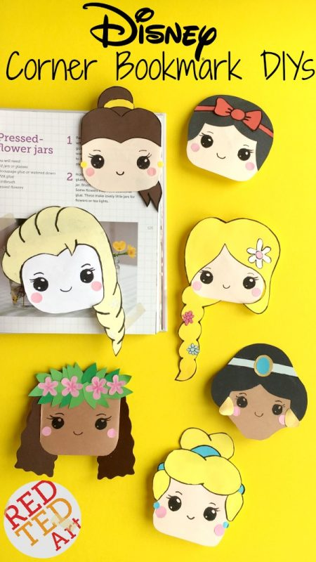 "Oh my, we love Disney Princesses SO MUCH!!! So created a very special set of Disney Princess Corner Bookmark Designs JUST FOR YOU. This first series has a Bell Bookmark, Tangled Bookmark, Moana Bookmark DIY, Elsa Bookmark Craft, Cinderella Corner Bookmark and Snow White Corner Bookmark. If you want to see MORE designs... ""vote"" with your fingers, and share this with all your friends.. the more shares, the more I new Disney Princess Bookmark DIYs I will create!!!!!! Oh and let me know your favourites too!!! Happy Bookmark making!"