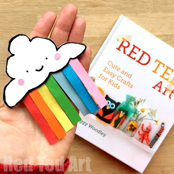 Rainbow corner bookmark diy red ted art 39 s blog for Easy bookmark ideas