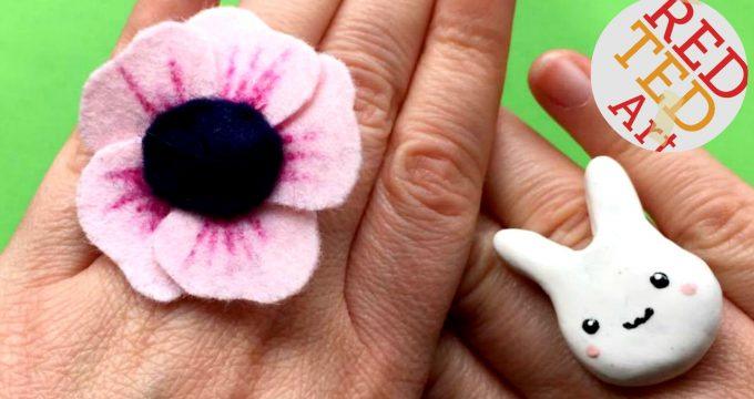 Easy Felt Flower Ring DIY