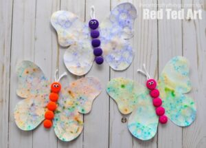 Butterfly Crafts for Preschoolers - great summer crafts for kindergarten and up.. love these adorable Butterfly Activities #butterflies #summer #preschoolers