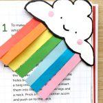 Rainbow bookmark corner for St Patrick's Day