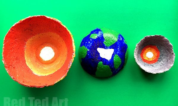 Papier Mache Earth Bowl