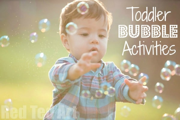 Bubble Activities for Toddlers - here are some great Bubble Games to play with young children. Helping them learn and play at the same time. Who doesn't love BUBBLES. Check out these great Bubble Activities for Toddlers! #toddlers #infants #bubbles #funwithbubbles