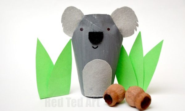 TP Roll Koala – Toilet Paper Roll Crafts for Kids