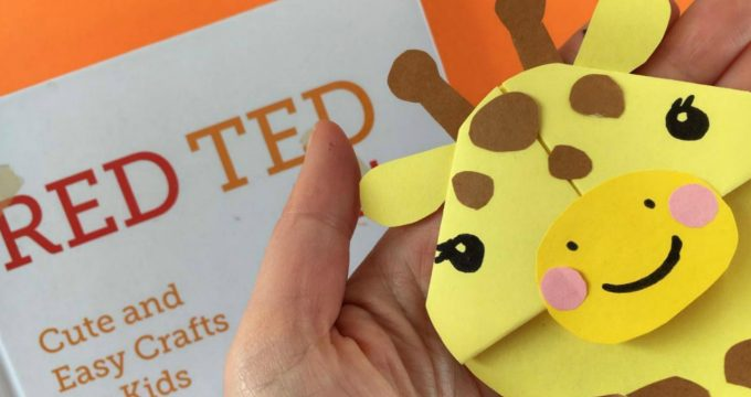 Easy Giraffe Bookmark Corner