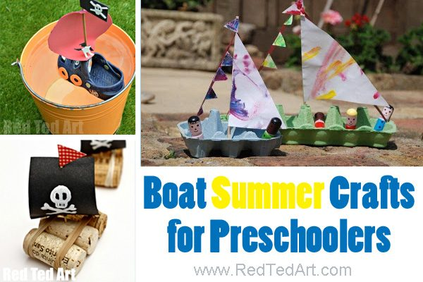 Adorable Summer Arts and crafts for preschoolers. Lots of fun with boats this summer. Hands on activities for kindergarten and preschool #preschool #kindergarten #summer #crafts