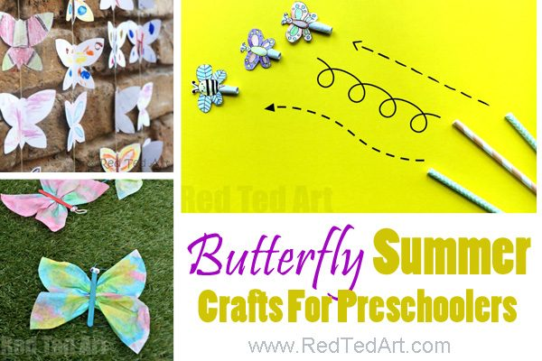 Easy Summer art for toddlers and preschool. A great selection of summer arts and crafts to make this summer. Hands on summer activities for toddlers and preschool #preschool #summer #toddler #art #activities