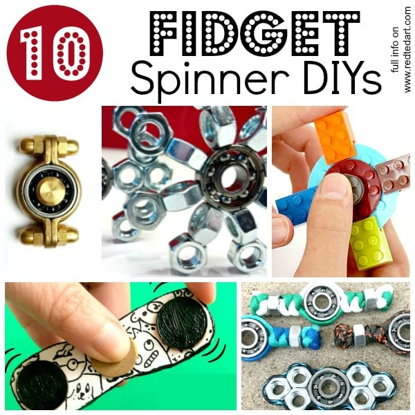 Fidget Spinner DIY Ideas - 10 great ways for How to make a Fidget Spinner!