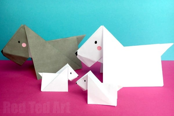 scottie dog origami red ted arts blog