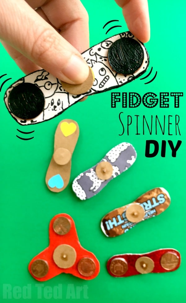 How to Make a Fidget Spinner DIY - Red Ted Art