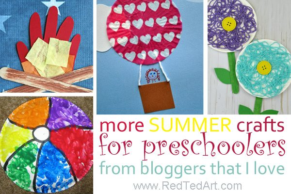 Craft for preschoolers this summer. Great Summer Crafts and Preschool Summer Crafts #preschool #summer #crafts