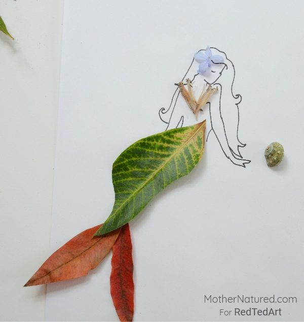 5 nature art ideas for kids red ted art 39 s blog for Mermaid arts and crafts