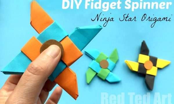 Ninja Fidget Spinner DIY – Paper Only, NO TEMPLATE Needed