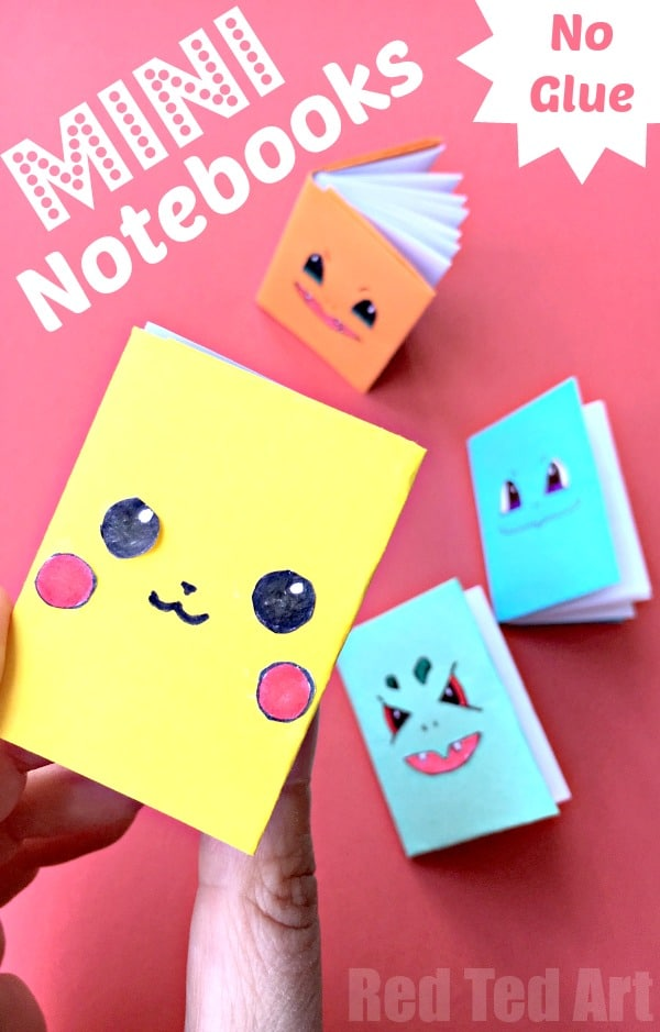 How To Make A Book Cover Out Of Construction Paper : No glue paper book diy red ted art s