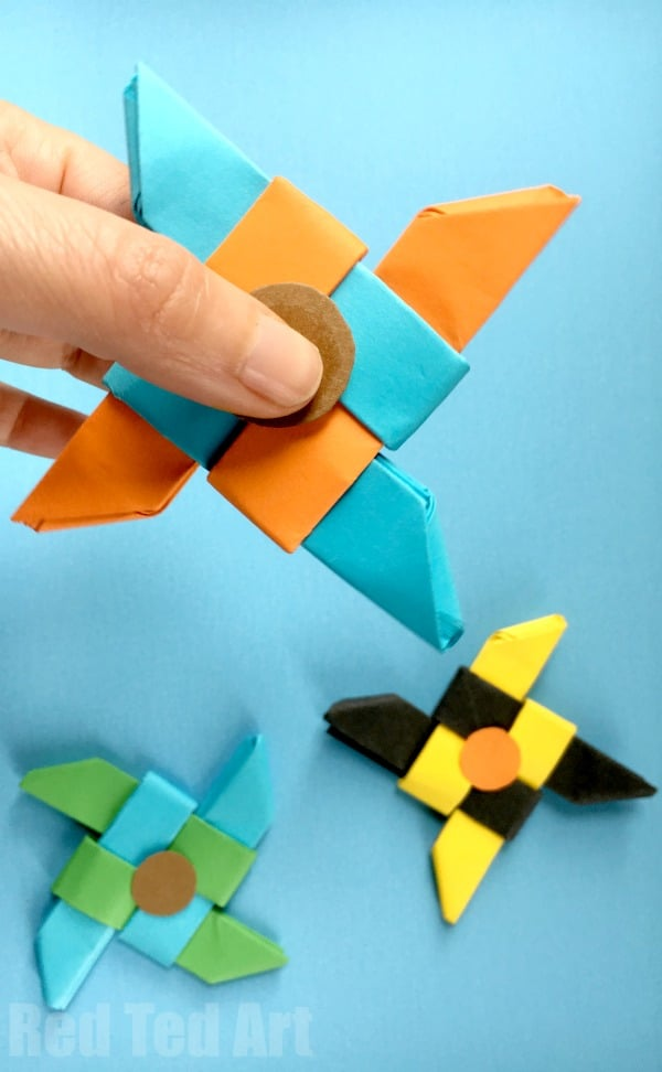 Ninja Fidget Spinner Diy Paper Only No Template Needed
