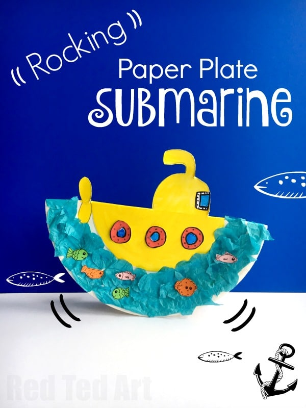 Rocking Paper Plate Submarine Craft for Preschoolers - super fun little summer craft for toddlers and  sc 1 st  Red Ted Art & Rocking Paper Plate Submarine Craft for Preschoolers - Red Ted Art\u0027s ...