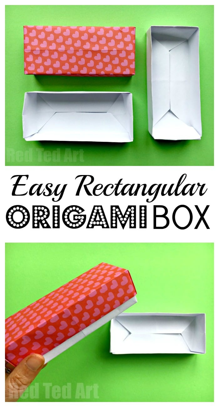 Easy Rectangular Origami Box We Love Simple Paper Crafts This Is Great