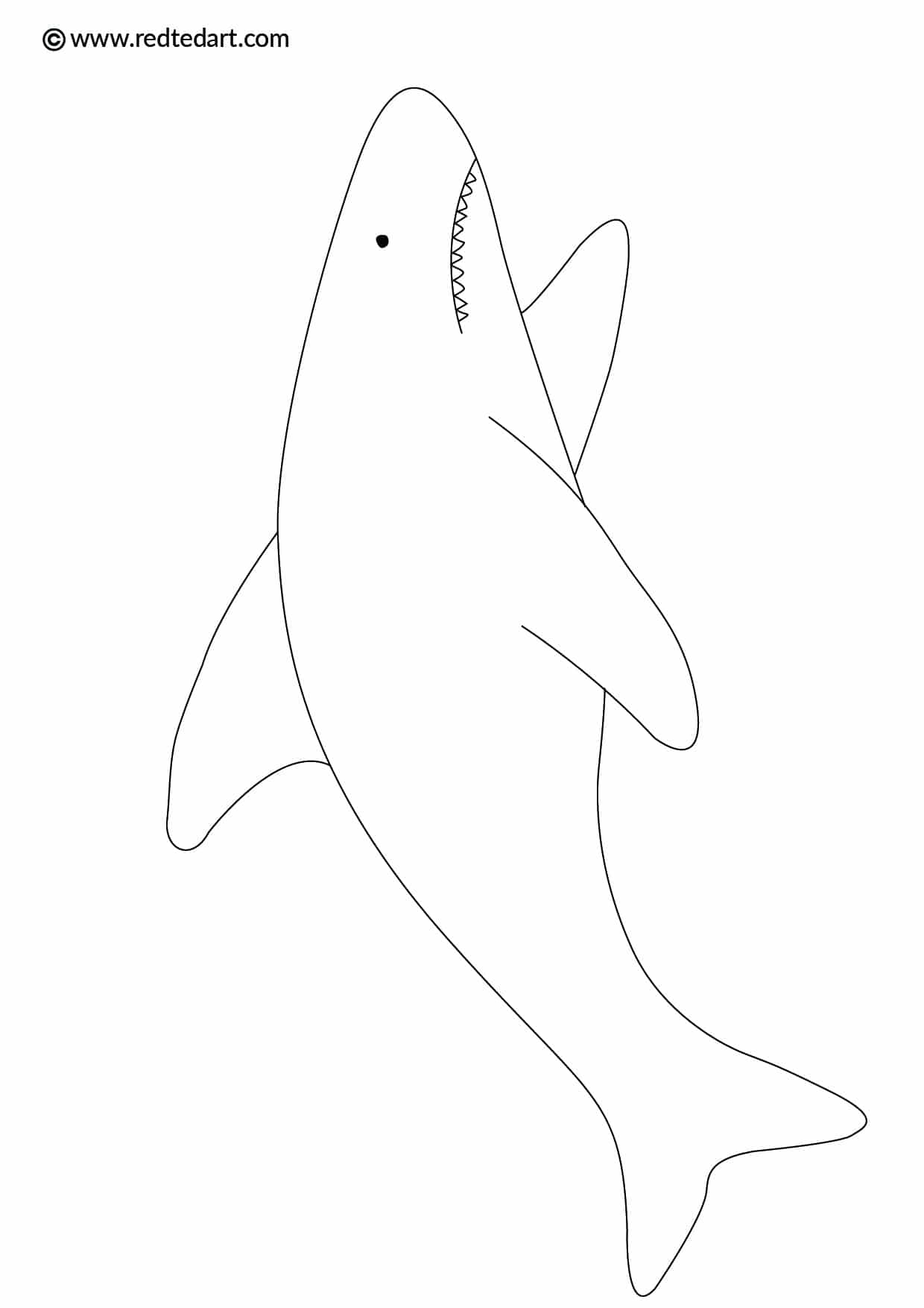 Shark Coloring Pages for Kids - Red Ted Art's Blog