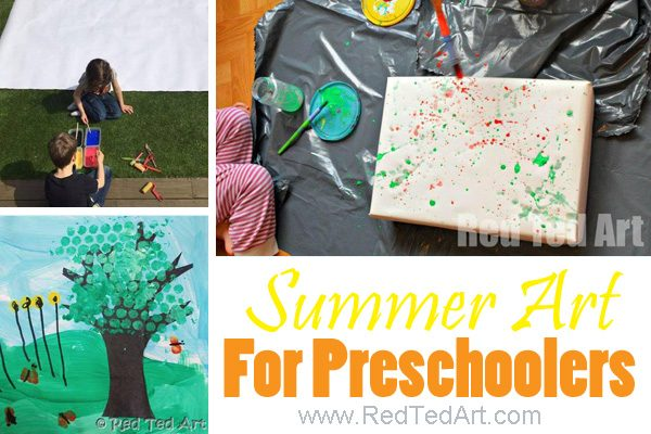 Summer arts and crafts for preschoolers and summer art for kindergarten. So many sweet summer art projects to do with young kids this summer. Get hands on with toddlers #summer #art #crafts #preschool