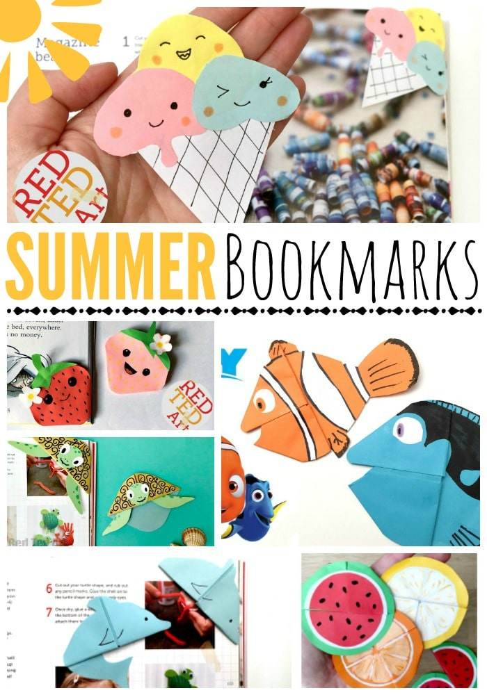 Summer Bookmarks - Corner Bookmark Designs - Love summer reading? Then compliment your favourite summer reads with some fun Bookmark Crafts. Here are some super duper cute DIY Corner Bookmarks to make you Summer Reading happy! You are welcome. More being added over coming weeks, so do check back!