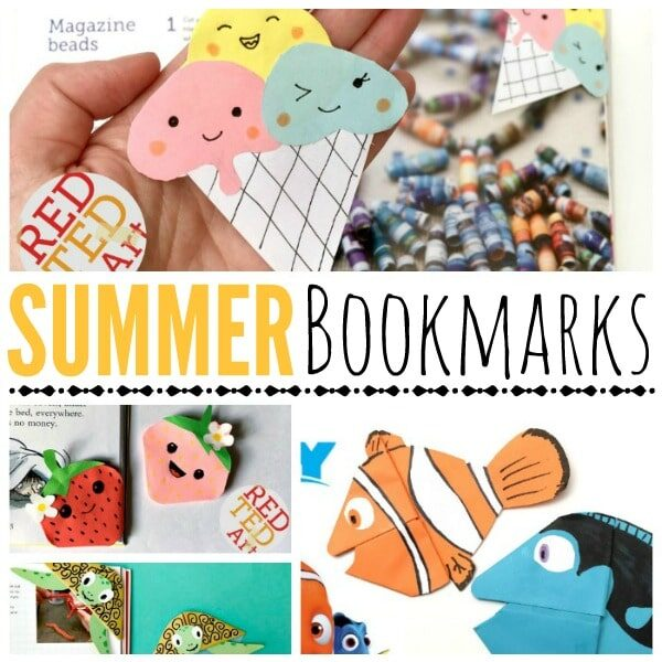 Summer Bookmark Ideas for everyone. We love summer and we love to READ in summer. Create a beautiful and fun set of easy summer bookmarks. Love all these Bookmark Ideas.