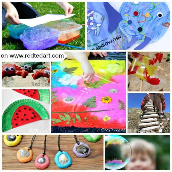Summer crafts for preschoolers as well as summer art for preschoolers. #summer #crafts #art #preschoolers #kindergarten